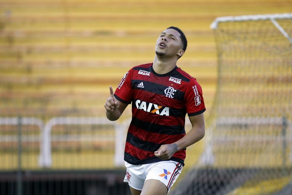 Vitor Gabriel é um dos atletas diagnosticados com caxumba — Foto: Staff Images/Flamengo