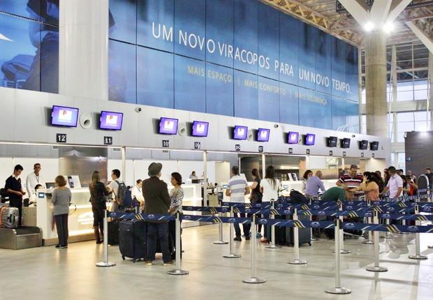 Saguão do aeroporto de Viracopos (Foto: Reprodução/Facebook)