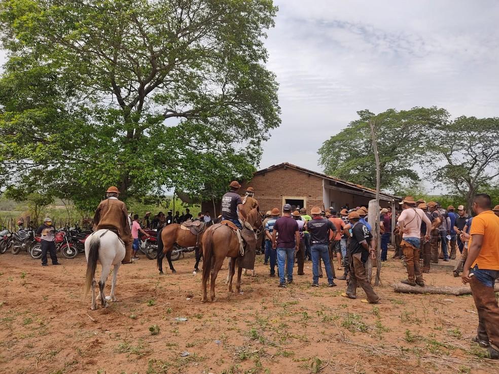 'Pega de boi' é encerrado na zona rural de Mauriti, no Ceará — Foto: Arquivo pessoal
