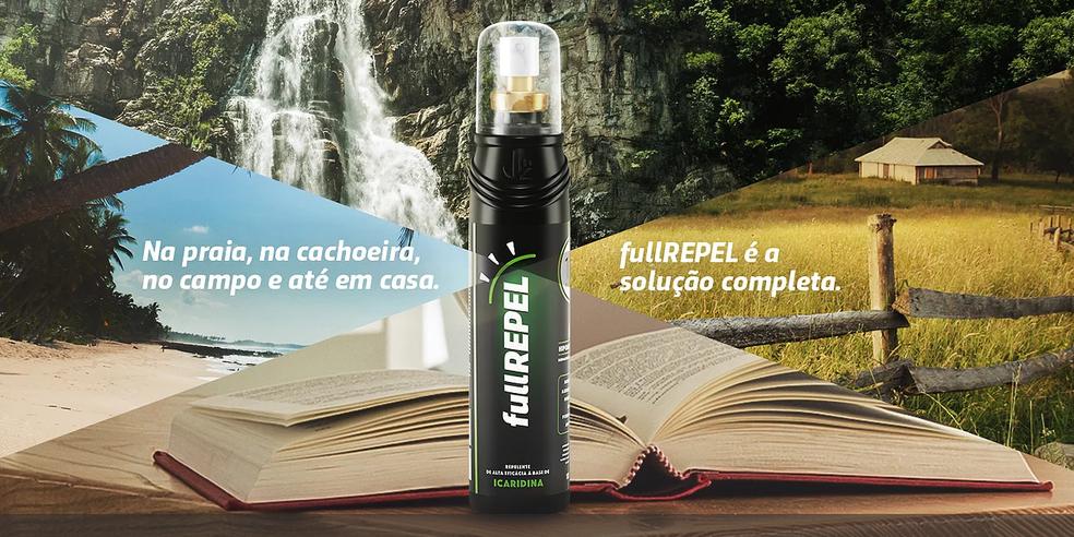 Repelente fullREPEL protege por até 12 horas (Foto: fullREPEL/Divulgação)