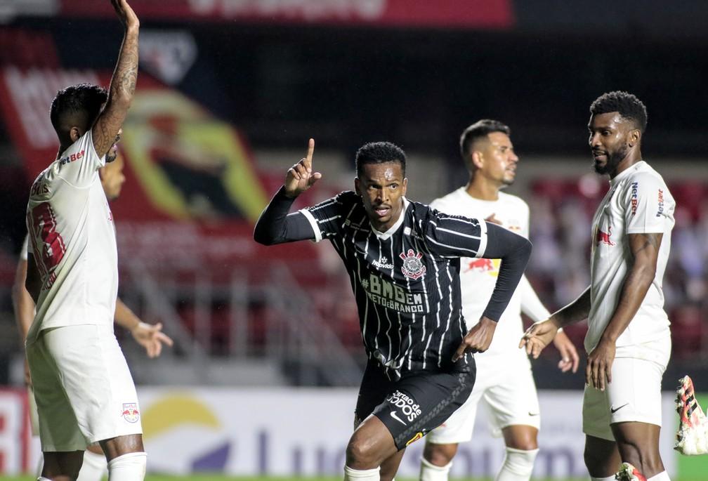 Jô fez gol em seu primeiro jogo após retorno ao Corinthians — Foto: Rodrigo Coca/Ag. Corinthians