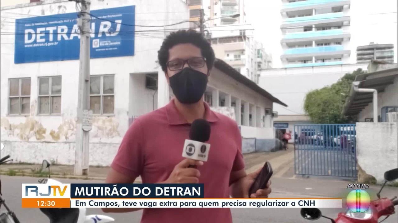 Detran realiza mutirão de atendimento em Campos, no RJ