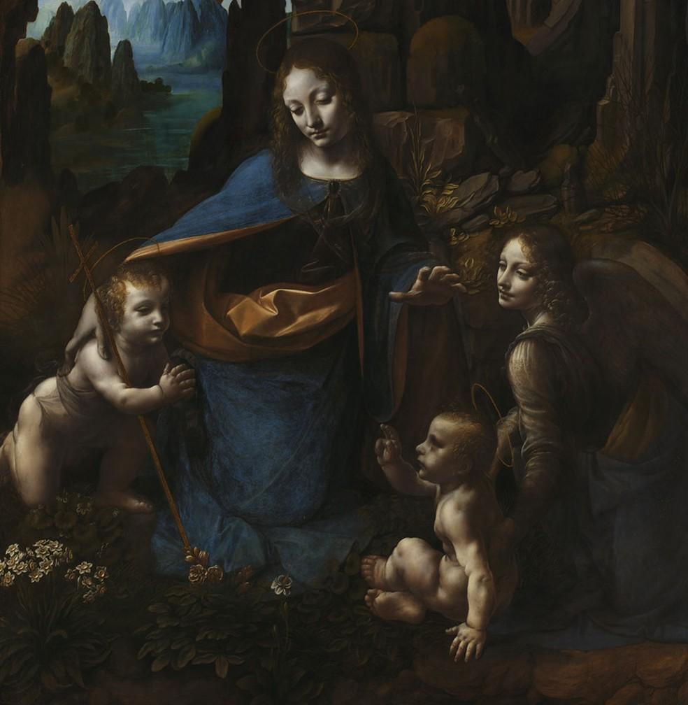 Virgem das Rochas, uma das obras-primas de Leonardo Da Vinci — Foto: National Gallery