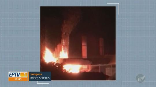 Incêndio atinge fábrica de Iracemápolis e mobiliza Bombeiros