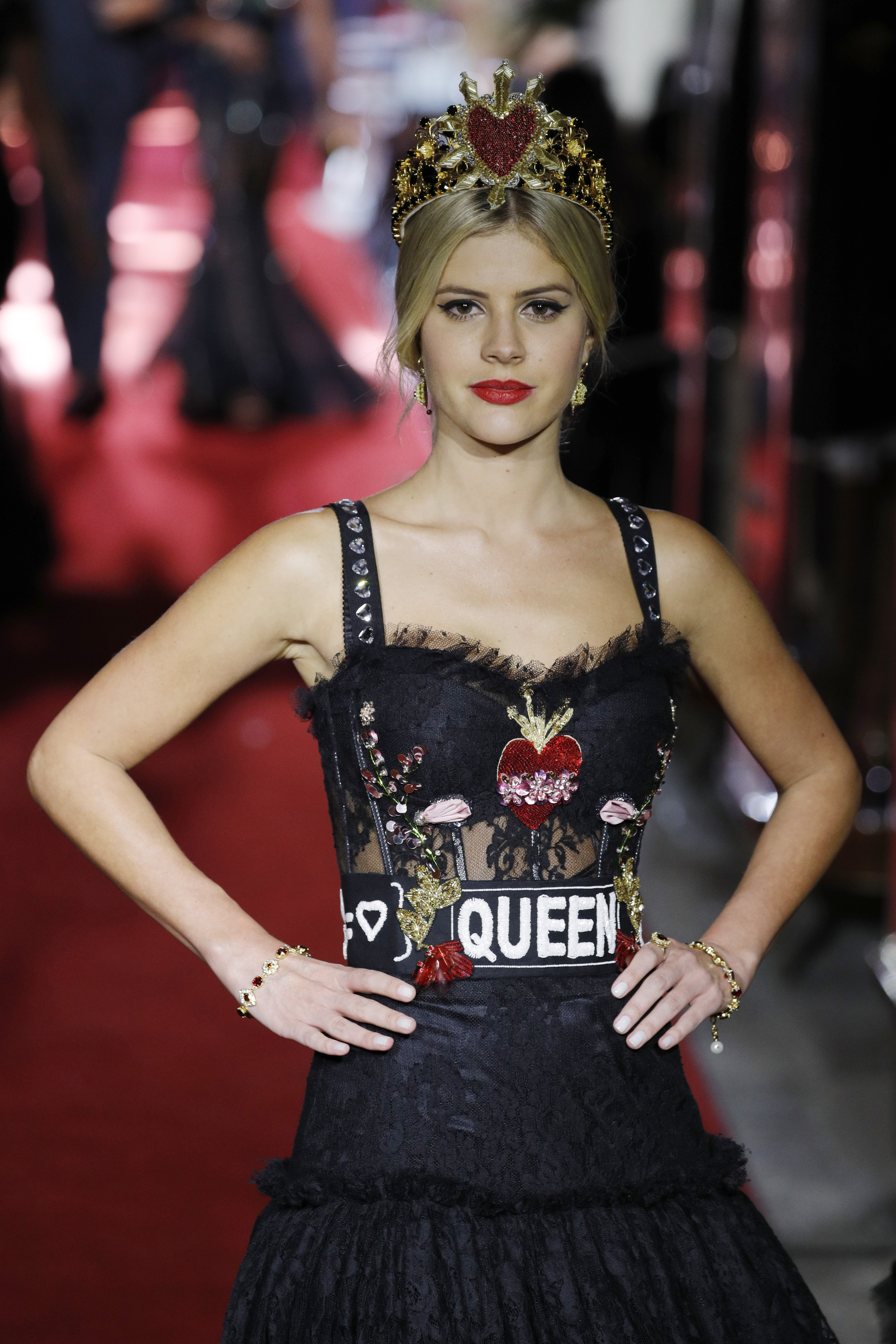 Lala Rudge no desfile da Dolce & Gabbanna no ano passado (Foto: Getty Images)
