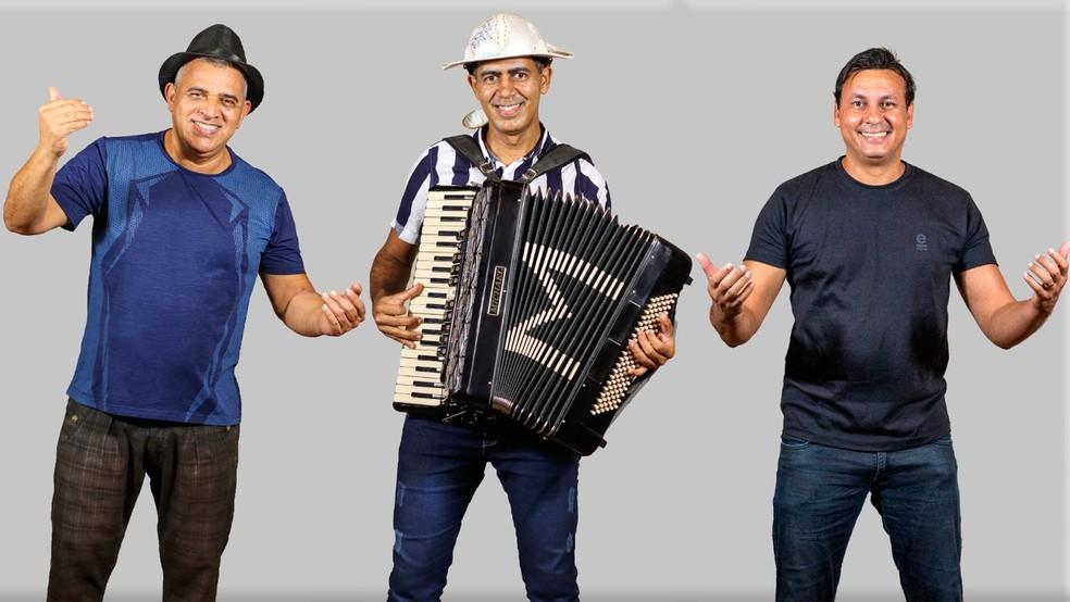 Adalício, Júnior Moura e Ricardo Vianna participam de festival de lives em homenagem a Luiz Gonzaga — Foto: Mateus Lopes/Divulgação