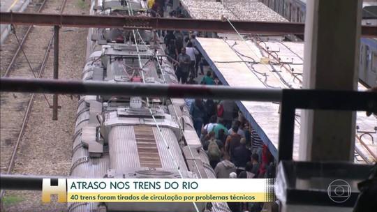 Supervia retira 40 trens de circulação por problemas técnicos no Rio