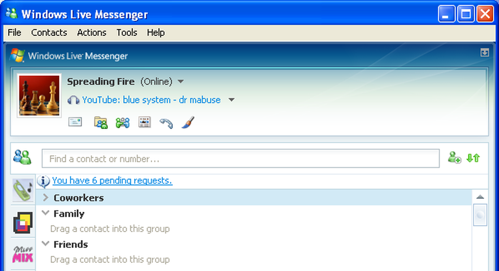 Você podia mostrar o que estava ouvindo para todos os seus contatos (Foto: Reprodução/MSN)