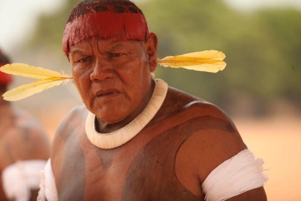 Aritana Yawalapiti, de 71 anos, morreu em agosto por Covid-19 — Foto: Antônio Carlos Banavita