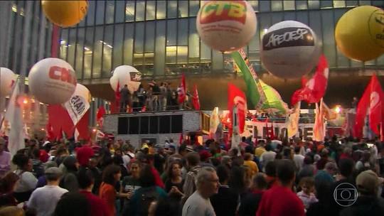 Sindicatos e movimentos sociais fazem protestos contra Temer