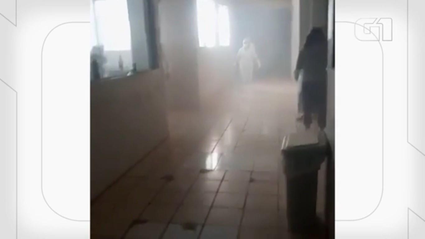 Princípio de incêndio é registrado em sala de repouso do hospital Socorrão em Imperatriz