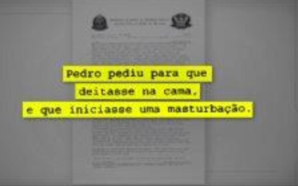 Menino de 16 anos disse que se masturbou na frente do pastor porque ele pediu — Foto: Reprodução/Polícia Civil