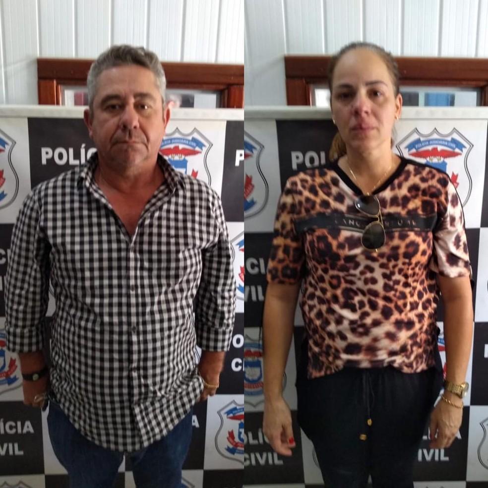 Duas pessoas são presas por aplicar golpe na compra de gado usando cheques sem fundos como pagamento em MT — Foto: Polícia Civil