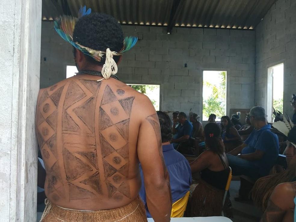 Índios da terra Indígena Tupinambá de Belmonte — Foto: Divulgação/CNDH