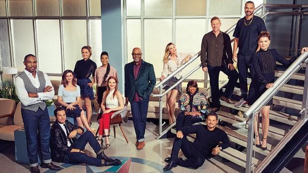 O elenco da 14ª temporada de Grey's Anatomy (Foto: Reprodução)