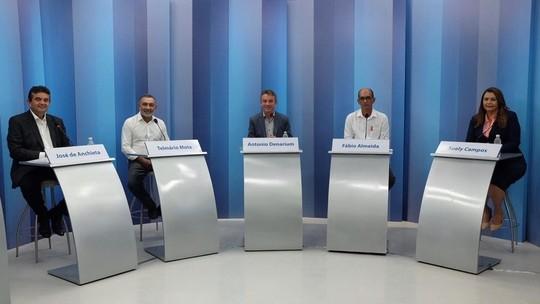 Candidatos ao governo de Roraima participam de debate na Rede Amazônica