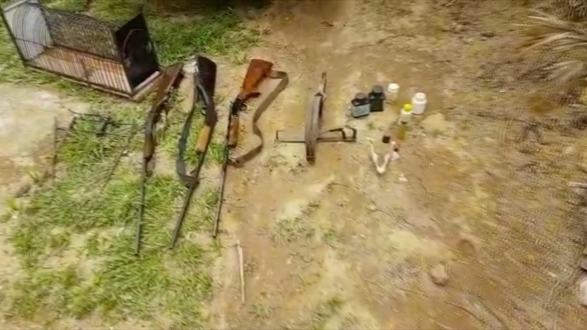 Homem é detido com material de caça em Silva Jardim, no RJ