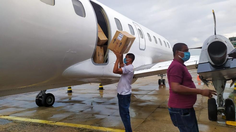 Piauí cede 45 mil EPIs para o Amazonas — Foto: Divulgação/Sesapi
