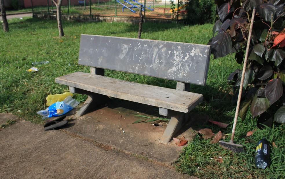 Segundo delegado, jovens usavam drogas nesse local quando começaram a discussão — Foto: Marcelo Coelho/TV Globo