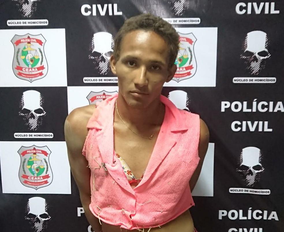 """Carlos César Moreira da Silva, vulgo """"Patati"""", foi autuado por latrocínio em Sobral — Foto: Divulgação/PM"""
