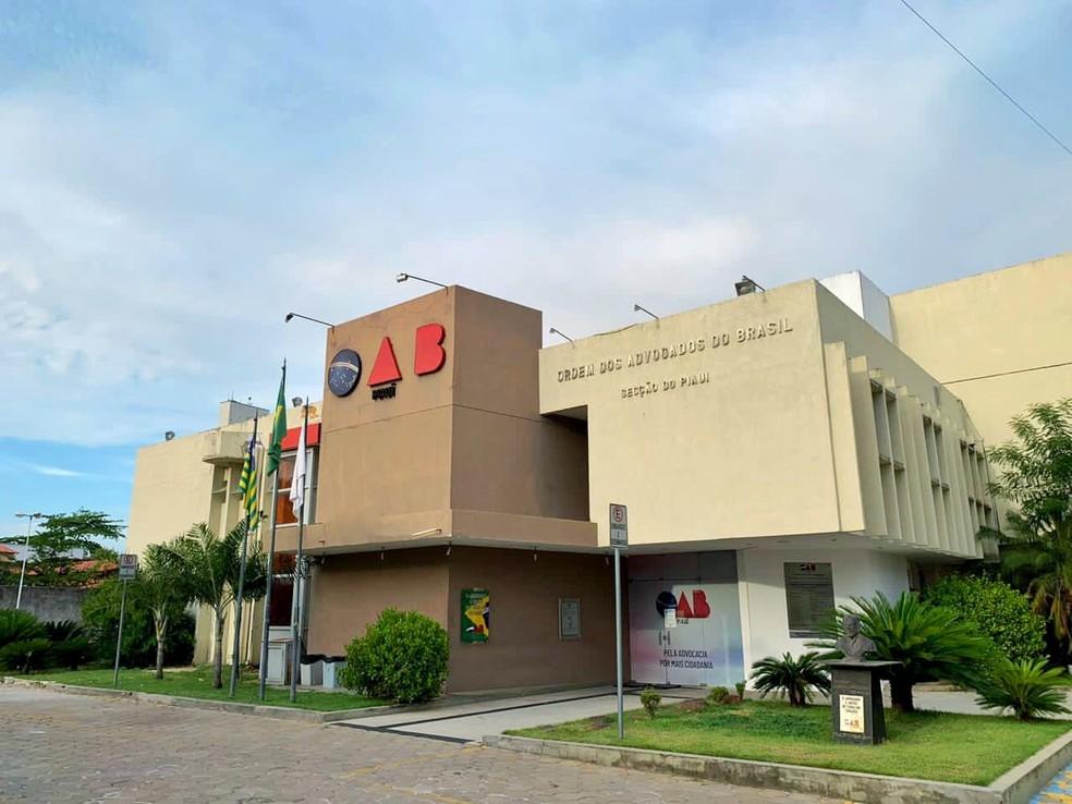 Sede da Ordem dos Advogados do Brasil - seccional Piauí (OAB-PI) — Foto: OAB-PI