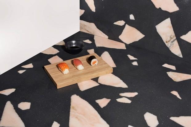 Designer usa resíduos da indústria de mármore para criar material sustentável (Foto: Divulgação)