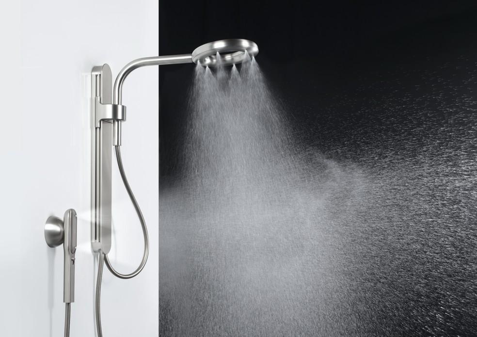 Chuveiro promete jato eficiente para consumir menos água e energia — Foto: Divulgação/Nebia