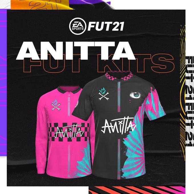 Uniforme personalizado de Anitta no FIFA 21 (Foto: Reprodução/EA Sports)