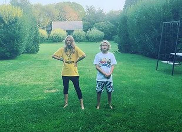 Gwyneth Paltrow compartilha foto rara dos filhos  (Foto: Reprodução/Instagram)
