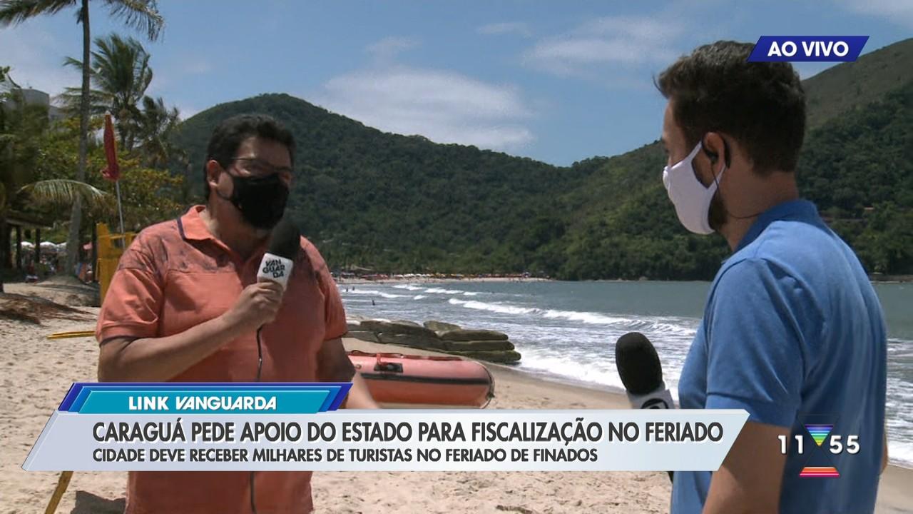 Caraguatatuba pede apoio ao estado para fiscalização no feriado