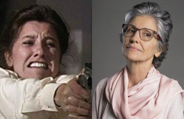 Cassia Kis interpretou Leila, ex-mulher de Ivan (Antonio Fagundes) e mãe de Bruno (Danton Mello). Foi a assassina de Odete Roitman (Beatriz Segall). A atriz está no elenco da série 'Ilha de ferro' e rodou o filme 'Riso de Ariano' (Foto: TV Globo)