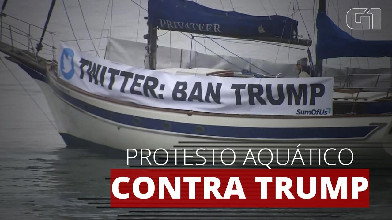 Manifestantes pedem a CEO do Twitter que remova Trump da rede social definitivamente