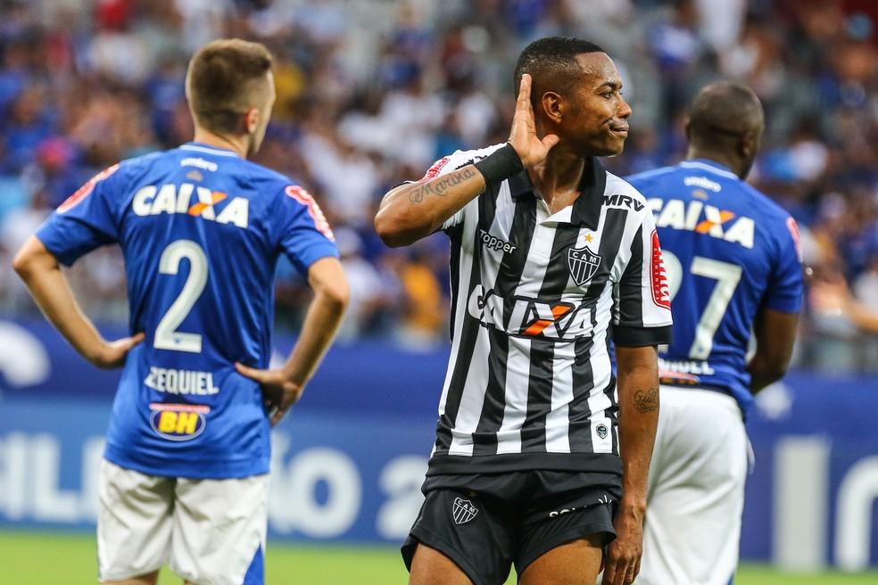 Robinho teve seu contrato com o Galo encerrado em 2018 (Foto: Bruno Cantini/ Atlético-MG)