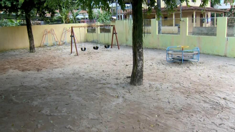 Creche suspendeu aulas nesta segunda-feira (17) — Foto: Reprodução/ TV Gazeta