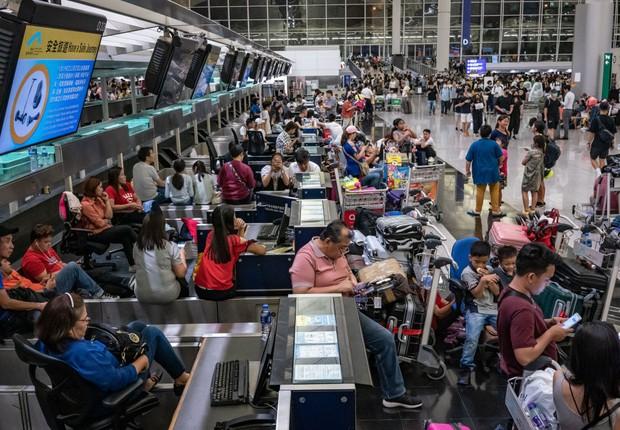 Aeroporto de Hong Kong  (Foto: GETTY IMAGES )
