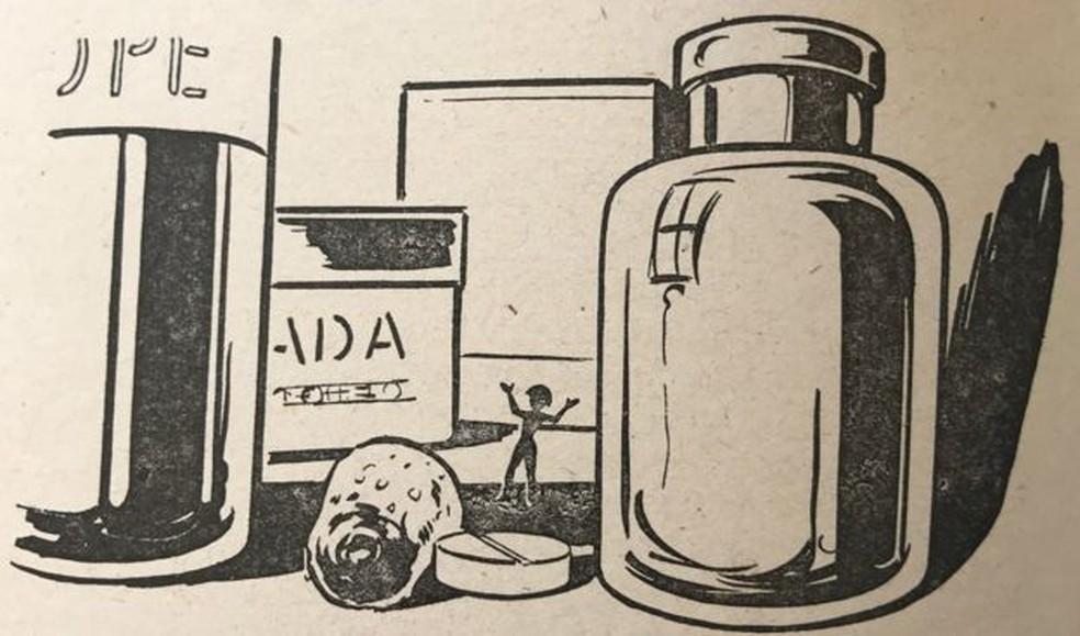 Ilustração de 'A chave do tamanho', um dos livros mais populares de Lobato — Foto: Divulgação/BBC