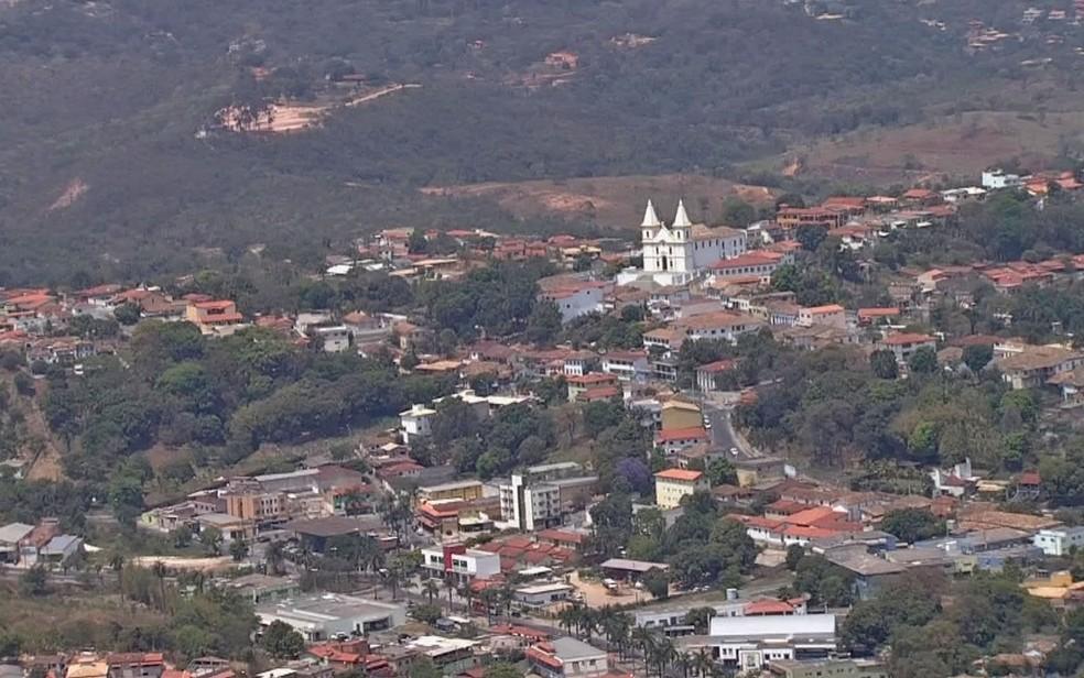 Vista aérea de Santa Luzia, na Região Metropolitana de Belo Horizonte — Foto: Reprodução/TV Globo