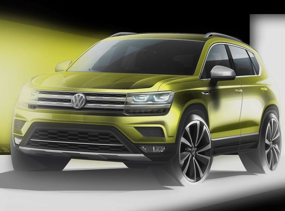 Esboço do Volkswagen Tarek (Foto: Divulgação)