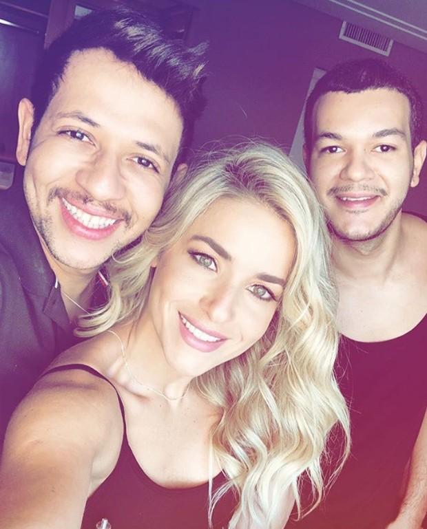 Evaldo Ribeiro, Monique Alfradique e Eduardo Rodrigues (Foto: Divulgação)