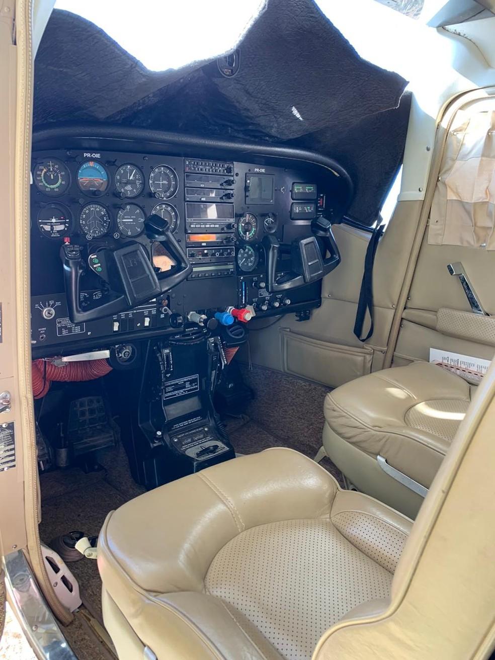 Aeronave foi vendida por R$ 800 mil — Foto: Divulgação / SSP-BA