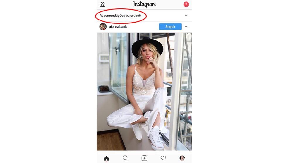 Instagram já mostra posts recomendados para usuários brasileiros (Foto: Reprodução )