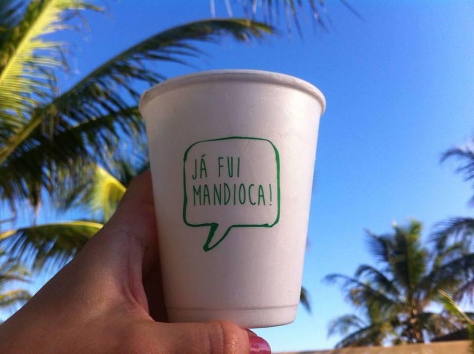 Copo biodegradável da CBPak feito a base de mandioca (Foto: CBPak/Facebook)