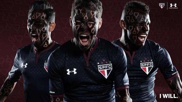 É oficial! São Paulo divulga imagens da nova terceira camisa  dbf0c3501dec3