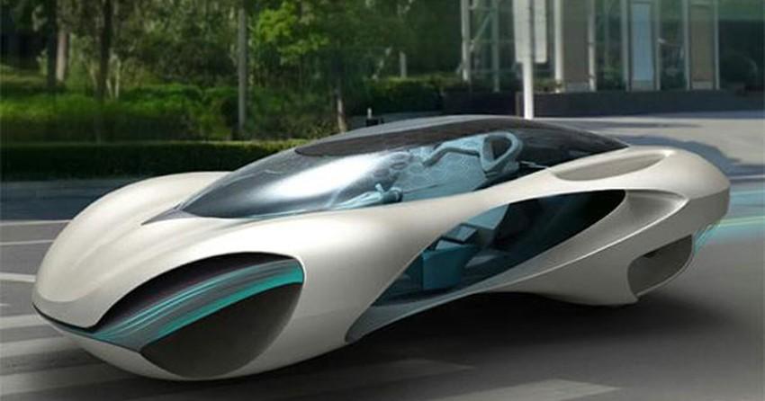 Estudante Chin 234 S Cria Conceito De Carro Futurista
