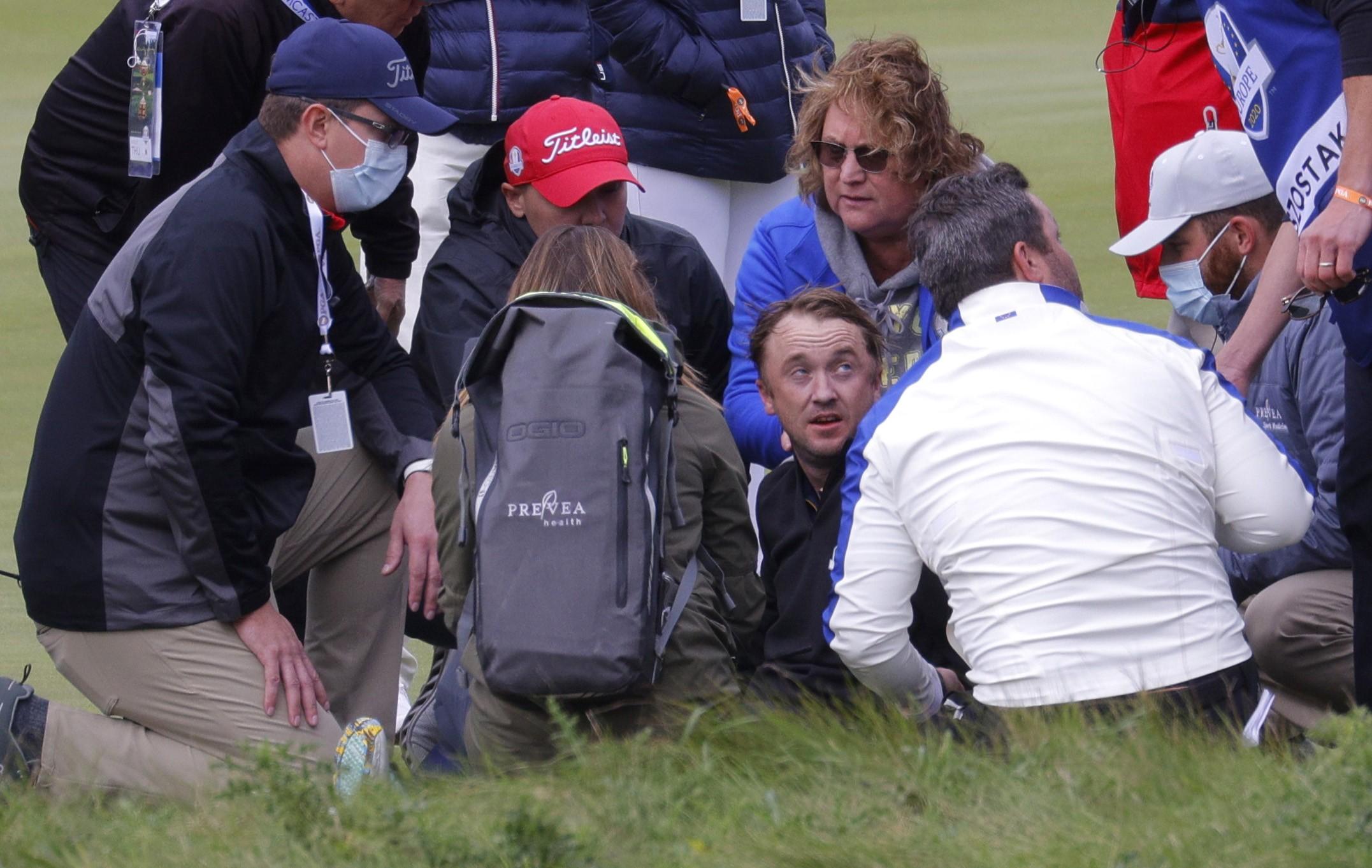 Tom Felton passa mal durante jogo de golfe nos EUA