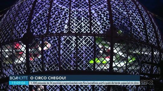 Entre crianças e idosos, mais de mil convidados da RPC se encantam no Circo dos Sonhos em Maringá