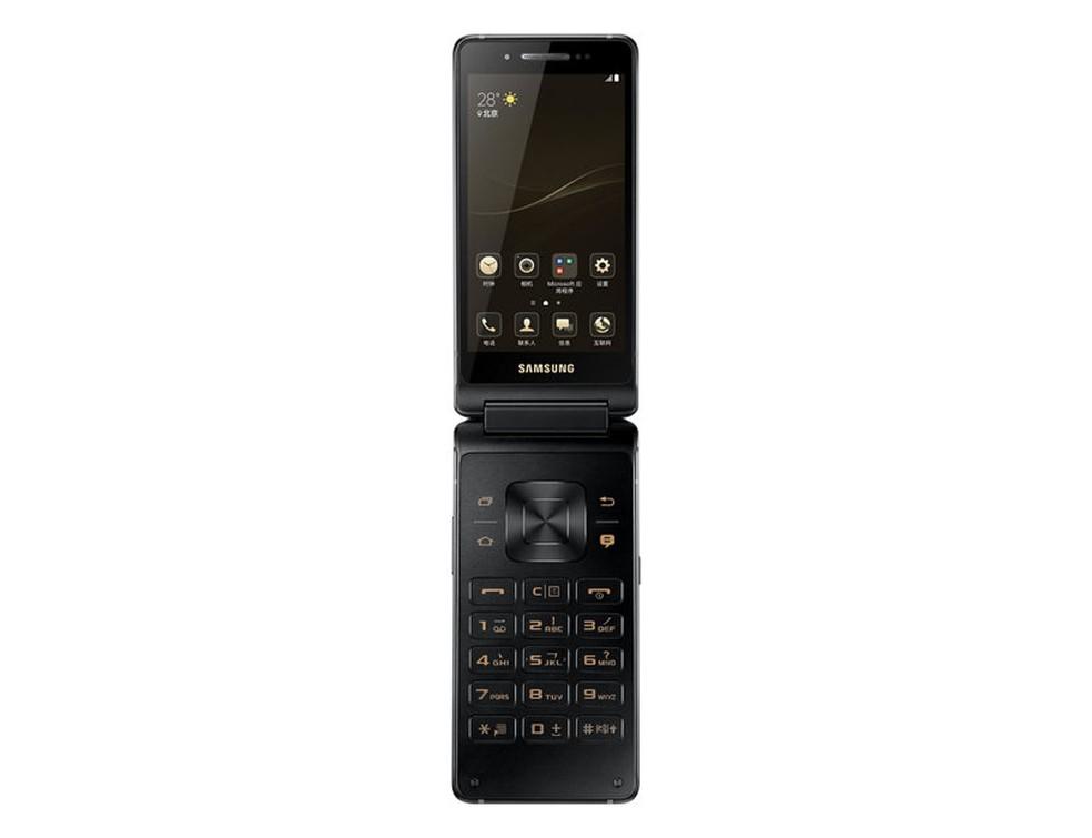 SM-G9298: celular de flip da Samsung tem processador potente e duas telas (Foto: Divulgação/Samsung)