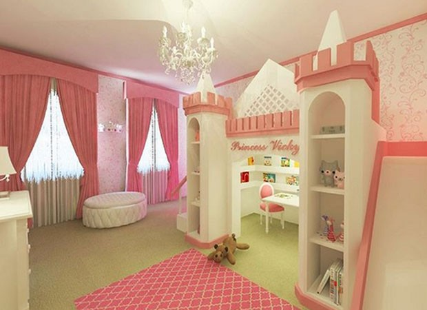 Bella Falconi exibe novo quarto da primogênita (Foto: Reprodução)
