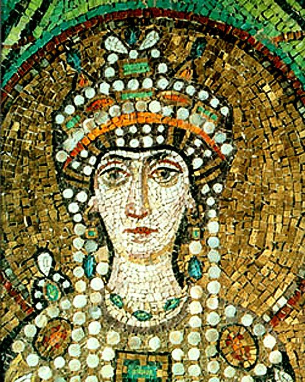 Dizem que Justiniano se apaixonou por Teodora por ela ser inteligente e geniosa — Foto: Domínio Público / Wikimedia Commons