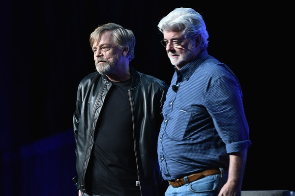 Mrk Hamill e George Lucas (Foto: Getty Images)